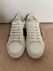 c47d64b5523 Gucci Ace Leather Sneaker White Snake