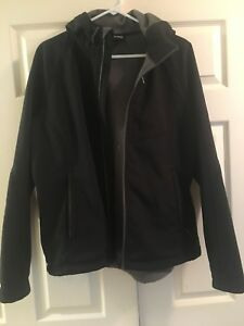 Outdoor black rain / fall jacket