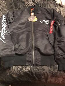 The Weeknd Futura Alpha Industries Starboy Bomber Jacket XO OVO