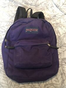 Purple Jansport backpack