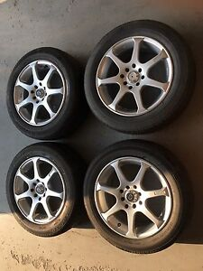 """15"""" Core Racing Rims with Tires 4x100 4x114.3"""
