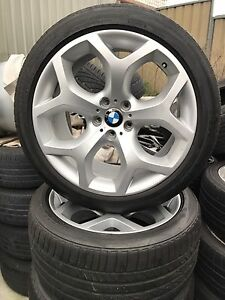 "4x GENUINE BMW X5 X6 20"" Y SPOKE ALLOY WHEELS AND BRIDGES RFT TYRES Blakehurst Kogarah Area Preview"