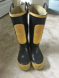 Firefighter rubber boots