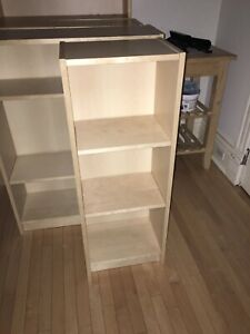 Ikea Billy bookcases in birch - 3 of 15.75x11x41.75 inches.
