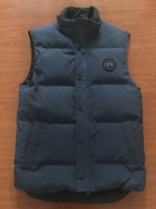 Men's Navy Canada Goose Freestyle Crew Vest (Black Label)