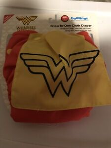 Wonder Woman cloth diaper with cape - new