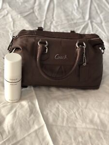 Chocolate Brown Leather Coach Purse