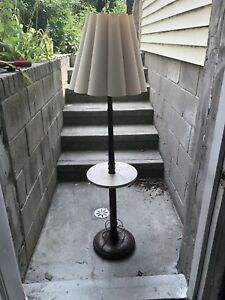 Vintage lamp with integrated table.