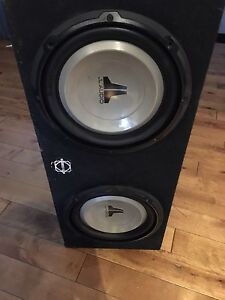 2 10 inch JL subs in bow with 1100 watt amp