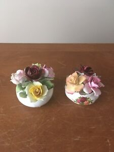 Bone china floral pieces