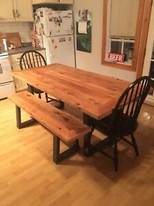 Dinner table-Coffee table-Side benches BARNWOOD