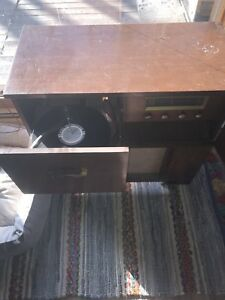 Antique record player.