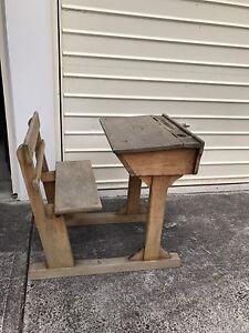 Antique children school desk Mosman Mosman Area Preview