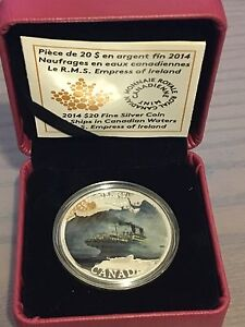 RCM - 2014 Lost Ships R.M.S. Empress of Ireland 999 Silver Coin