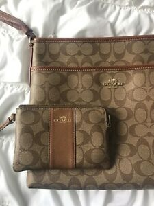 Coach Purse & Wristlet Set