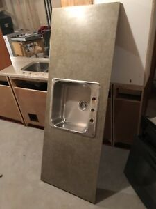 Melamine counter with single sink