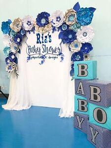 PAPERFLOWER & BALLOONS Backdrop