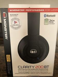 Bluetooth wireless headphone by Monster Clarity 200BT