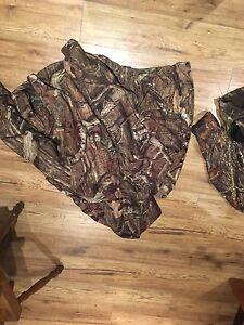2 different camo coats