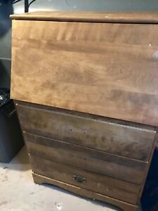 Solid Maple Chest of drawers/ desk