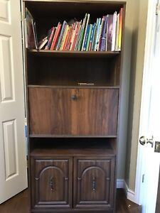Solid Dark Bookcase
