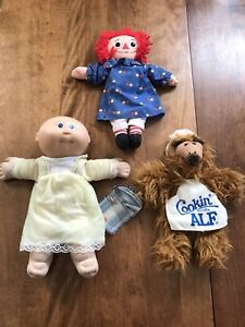 Raggedy Ann, cabbage patch and Alf