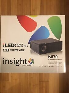 Insight Projector Screen and LED projector