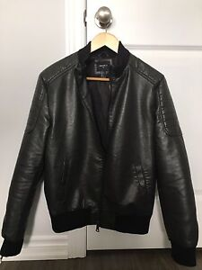 Faux leather bomber jacket from Forever 21