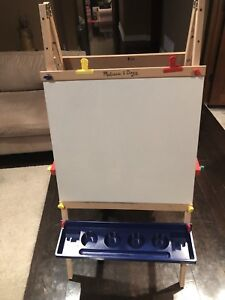 Children's kids easel drawing and chalk board