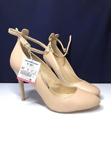 Zara Basic Nude Leather Heels Size 10 - Retail: 90$