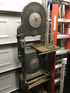 Vintage band saw, Canadian made