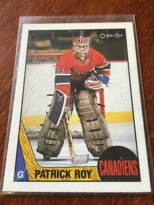 Cartes sportives de hockey o pee chee 1986-87 Patrick roy