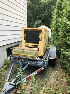 Génératrice montée sur trailer