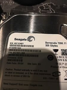 "Seagate Barracuda 3.5"" drives (640 & 320gb) London Ontario image 3"