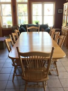 Beautiful oak dining room suite - seats  up to 12