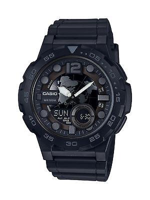 Casio Men's Quartz Analog-Digital Black Resin Band 47mm Watch AEQ100V-1BV