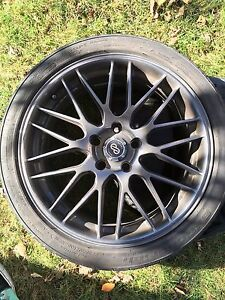 """18"""" low profile rims with 225/40zr18 88w tires"""