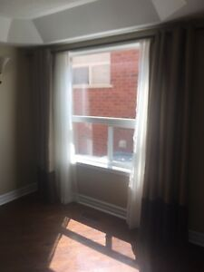 (2) Sets of curtains and shears (full length) $ 50/$60