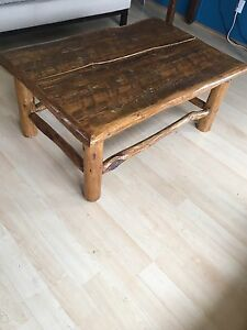 Stonewater's log coffee table