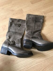 Brand New Brown Leather boots size 38