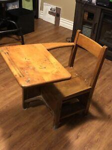 Kid's Wooden School Desk