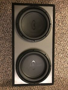 "10"" subwoofer with box and passive radiator"