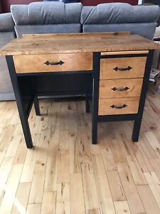 Vintage Desk with Maple Top