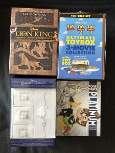 Lion King, Cinderella, Toy Story trilogies. Collector édition.