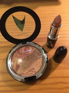 MAC Star Trek LLAP frost lipstick + Highly Illogical powder