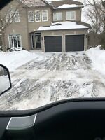 Ice chiseling and snow removal