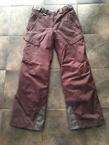 Salomon Insulated Snow Pants Size 8 Womens