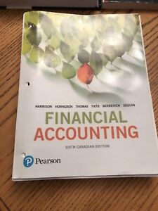 Pearson Financial Accounting 6th Edition Loose leaf Textbook