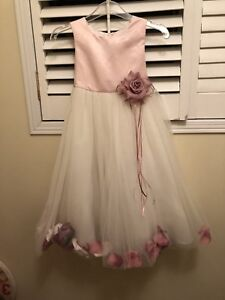 Flower Girl Dress - White and Pink