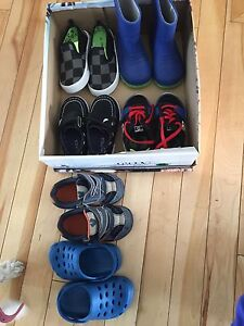 6 pairs of size 5 toddler shoes